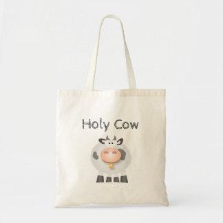 Bolsa Tote Vaca santamente engraçada é seu aniversário bonito
