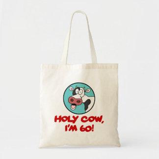 Bolsa Tote Vaca santamente eu sou a sacola 60 engraçada