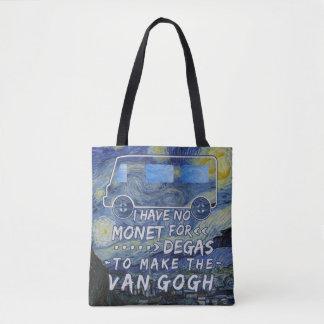 Bolsa Tote Van Gogh Monet desgaseifica a noite estrelado da