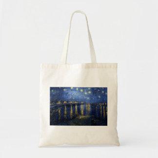 Bolsa Tote Van Gogh: Noite estrelado sobre o Rhone