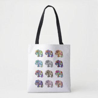 Bolsa Tote Variações da parada decorativa colorida dos
