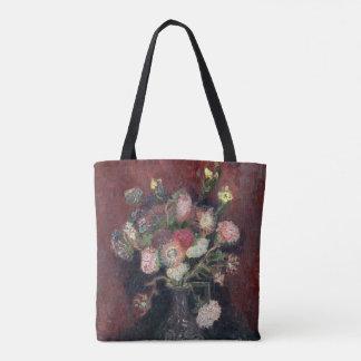 Bolsa Tote vaso de Van Gogh com ásteres e os tipos de flor