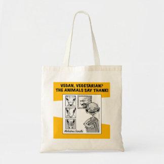 Bolsa Tote vegan, vegetariano? os animais dizem o obrigado!