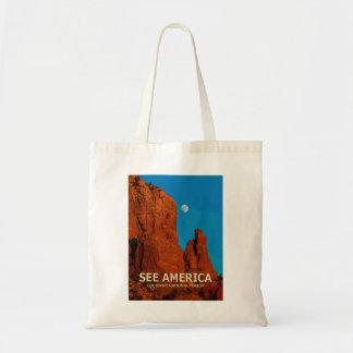 """Bolsa Tote """"Veja a sacola da floresta nacional de América"""""""