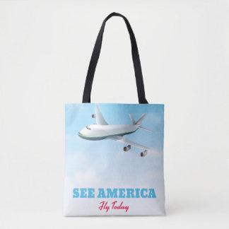 Bolsa Tote Veja América - mosca hoje!