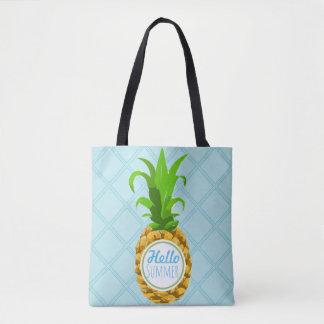 Bolsa Tote Verão tropical na moda do abacaxi olá!
