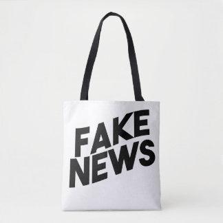 Bolsa Tote Verdade elegante do cargo da notícia falsificada