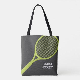Bolsa Tote Verde conhecido personalizado e cinzas da raquete