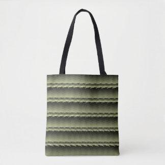 Bolsa Tote Verde da sacola marmoreado