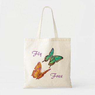 Bolsa Tote Verde de jade e sacola da borboleta do ouro