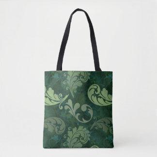 Bolsa Tote Verde, pena, Quill, penas, elegante, luxúrias,
