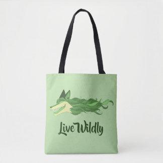 Bolsa Tote Verde vivo da sacola do Fox descontroladamente