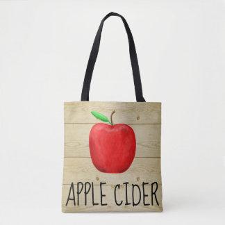 Bolsa Tote Vermelho Apple da sidra de maçã