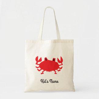 Bolsa Tote Vermelho do caranguejo do mar