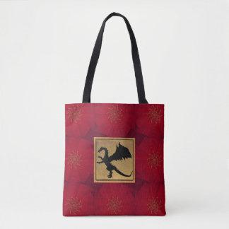 Bolsa Tote Vermelho e sacola mágica do dragão do ouro