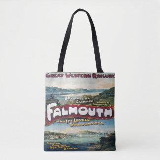 Bolsa Tote Viagem da sacola da imagem do vintage das férias