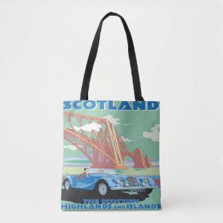 Bolsa Tote Viagem de carro da sacola do vintage de Scotland