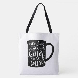 Bolsa Tote Viciado engraçado Java do café, citações da