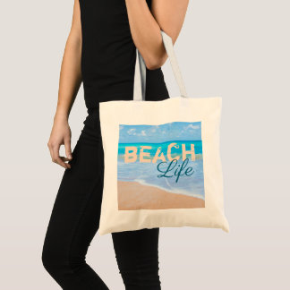Bolsa Tote Vida da praia. Oceano tropical do Aqua do paraíso