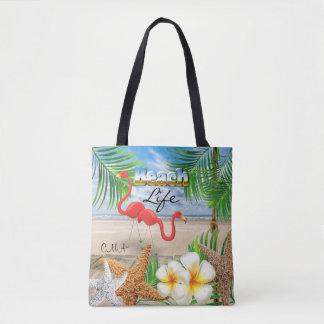 Bolsa Tote Vida da praia - tropical