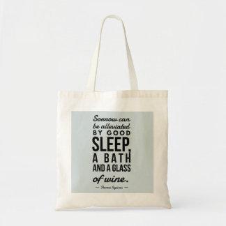 Bolsa Tote Vidro do banho do sono de citações da motivação de