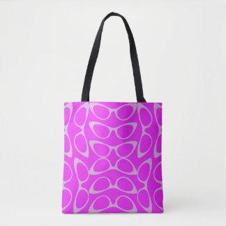Bolsa Tote Vidros espectaculares do olho de gato roxos &