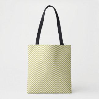 Bolsa Tote Vigas verdes/brancas modeladas