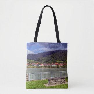 Bolsa Tote Vila de Willendorf no rio Danúbio, Áustria