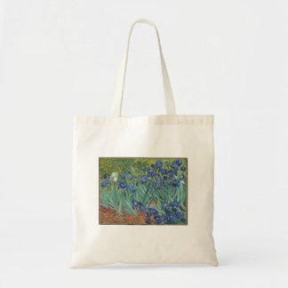 Bolsa Tote Vincent van Gogh - íris que pintam a sacola da