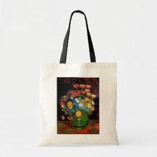 Bolsa Tote Vincent van Gogh - vaso com belas artes dos
