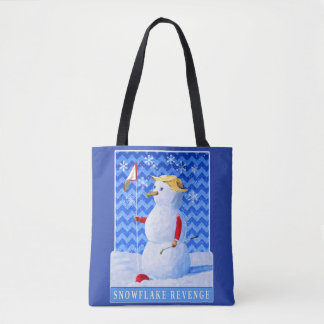 Bolsa Tote Vingança do floco de neve - sátira do trunfo