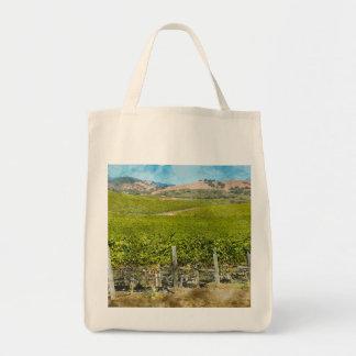 Bolsa Tote Vinhedo do vinho de Califórnia