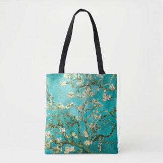Bolsa Tote Vintage de florescência Van Gogh floral da árvore