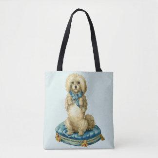 Bolsa Tote Vintage/sacola bonito retro do cão
