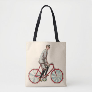 Bolsa Tote Vintage/sacola retro do ciclista