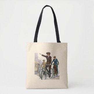 Bolsa Tote Vintage/sacola retro dos ciclistas