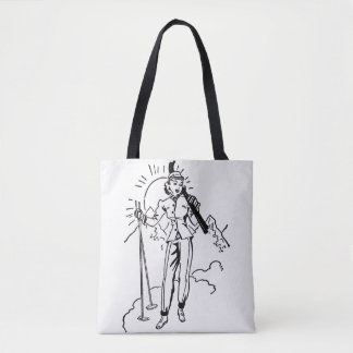 Bolsa Tote Vintage/senhora retro sacola do esqui