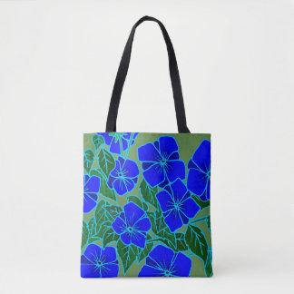 Bolsa Tote Violetas azuis #6