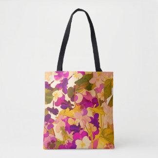 Bolsa Tote Violetas na sacola do sol