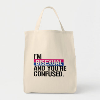 Bolsa Tote Vista bissexual - eu sou bissexual e você é