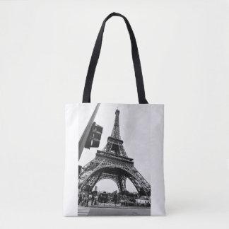 Bolsa Tote Vista ocasional da torre Eiffel - simples e à moda