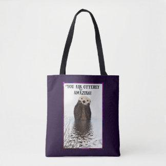Bolsa Tote Você é chalaça bonito surpreendente de Otterly com