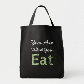 Bolsa Tote Você é o que você come a sacola