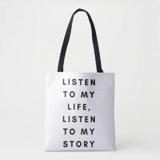 Bolsa Tote Você precisa de conhecer-me sacola do slogan