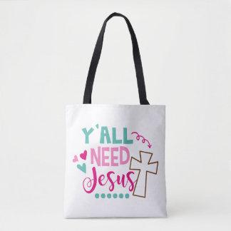 Bolsa Tote Você precisa Jesus Totebag