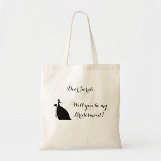 Bolsa Tote Você será meu saco da dama de honra