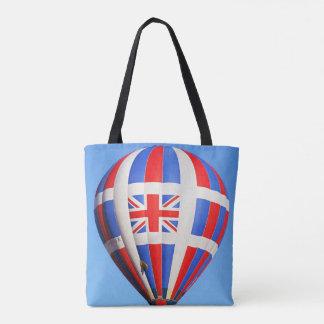 Bolsa Tote Vôo Reino Unido por todo o lado na sacola do