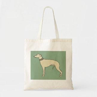 Bolsa Tote Walter a sacola do cão de Whippet