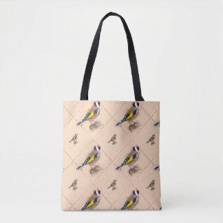 Bolsa Tote Watercolour do passarinho do ouro