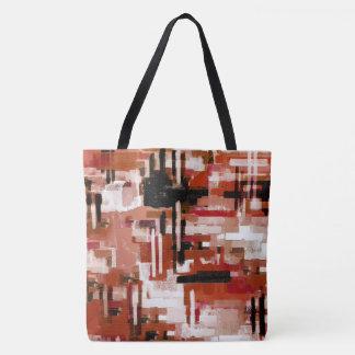 Bolsa Tote Weave pintado - vermelho